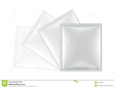 3D Sachet Bag Package Royalty Free Stock Photo - Image