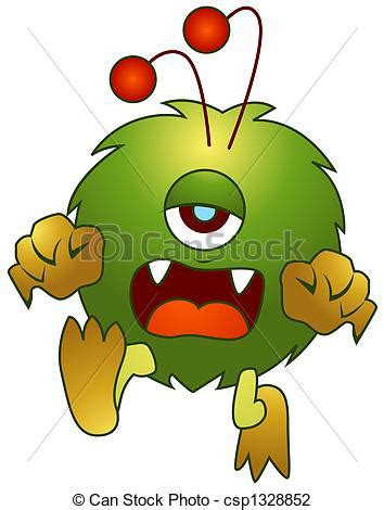 Clip Art of Cute Monster csp1328852 - Search Clipart