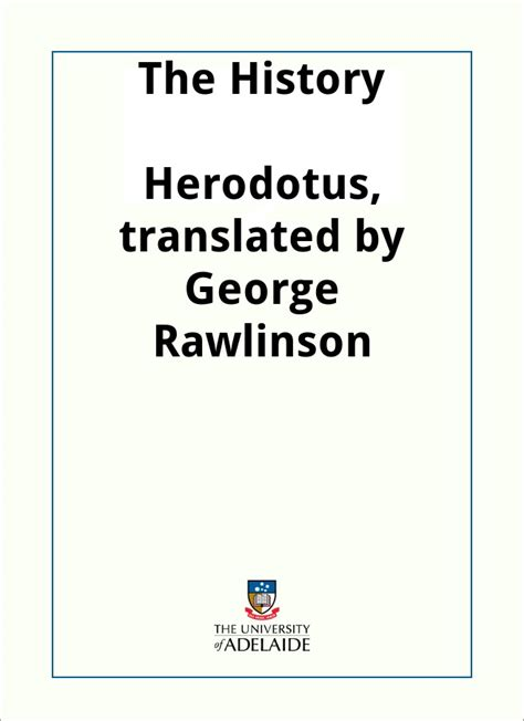 The History, by Herodotus