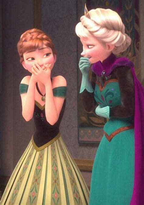 I love how Elsa is holding her stomach, like this is
