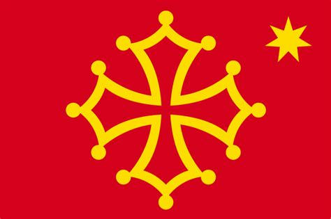 File:Flag of Occitania (with star)