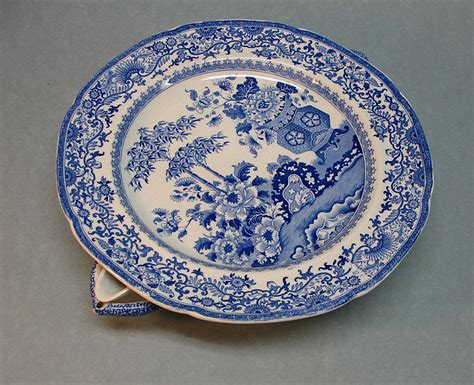 Blue and White Staffordshire Warming Dish ca