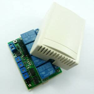 4 channels 433MHz Delay RF Wireless Relay Controller For