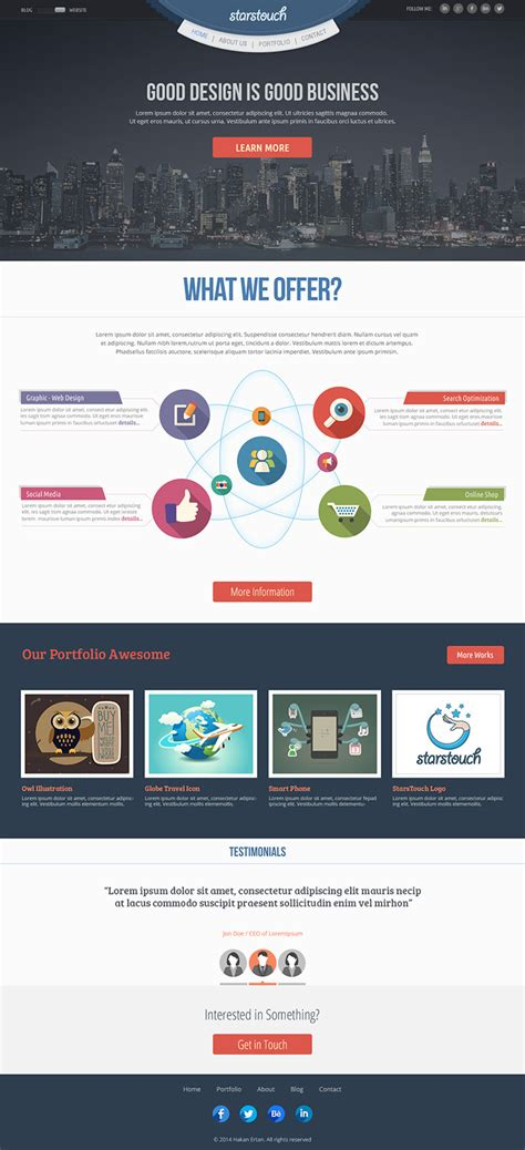 StarsTouch - Free Website Template on Behance