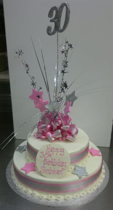 Two tier 30th Birthday cake - Sargent's Cakes