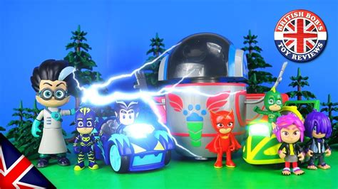PJ Robot, Wolfy Kids & PJ Mask Speed Booster Toy Review