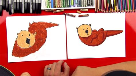 How To Draw An Otter With Shapes - Art For Kids Hub