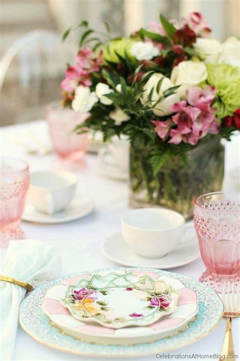 Setting a Mother's Day Brunch Table - Celebrations at Home