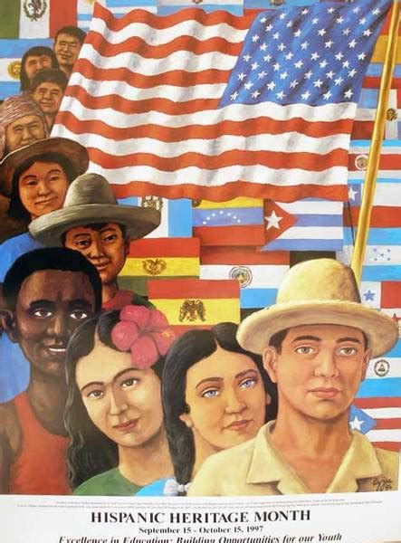 Hispanic Heritage Month Poster- 97 Excellence in Education