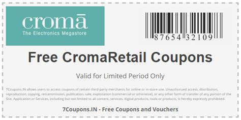 CromaRetail Coupons and Offers for December 2019 | 7Coupons