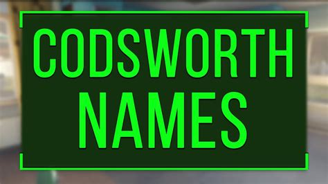 132 Funny & Cool Names Codsworth Can Say (Fallout 4) - YouTube
