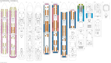 Costa Pacifica Deck Plans, Diagrams, Pictures, Video