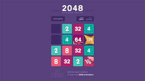 2048 game - Animated edition