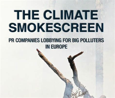 Europe's PR firms greenwashing for Big Polluters